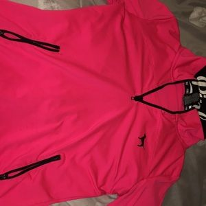 PINK pink  zip up athletic sweater